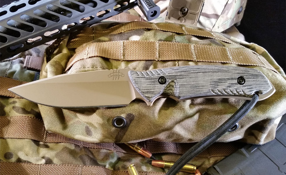 The Attleboro Knife - Straight, Coyote Tan