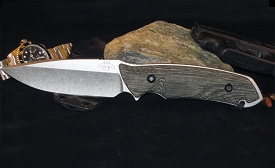 The Attleboro Knife - Straight, Stone Wash