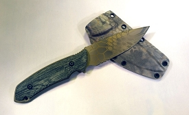 The Attleboro Knife - Serrated, Kryptek Mandrake