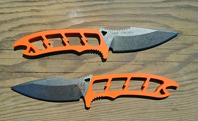 Dau Tranh Neck Knife - Orange Handle