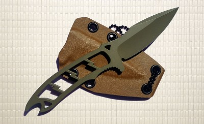 Dau Tranh Neck Knife - Multi Cam Green